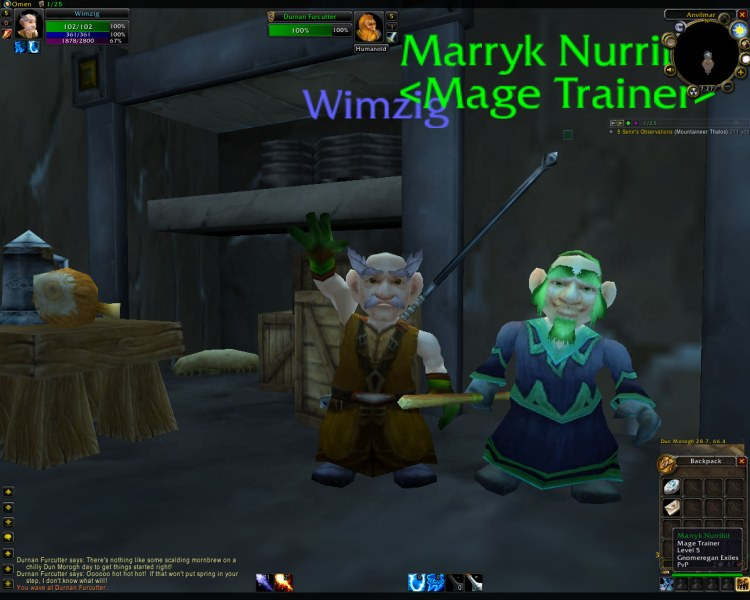 August - Wimzig is born!  Created for RP in US Scarlet Crusade, he is destined for greatness!